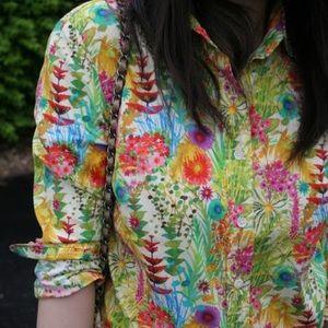 J.Crew Liberty Art Fabrics Button Down Blouse Top